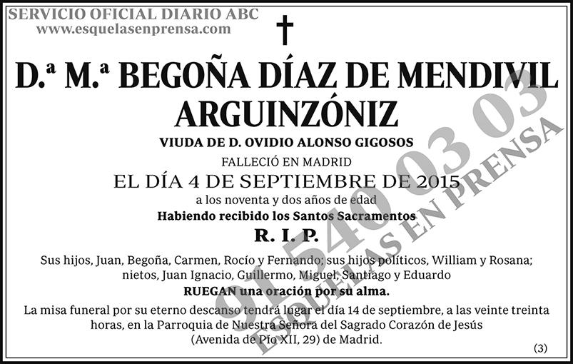 M.ª Begoña Díaz de Mendivil Arguinzóniz